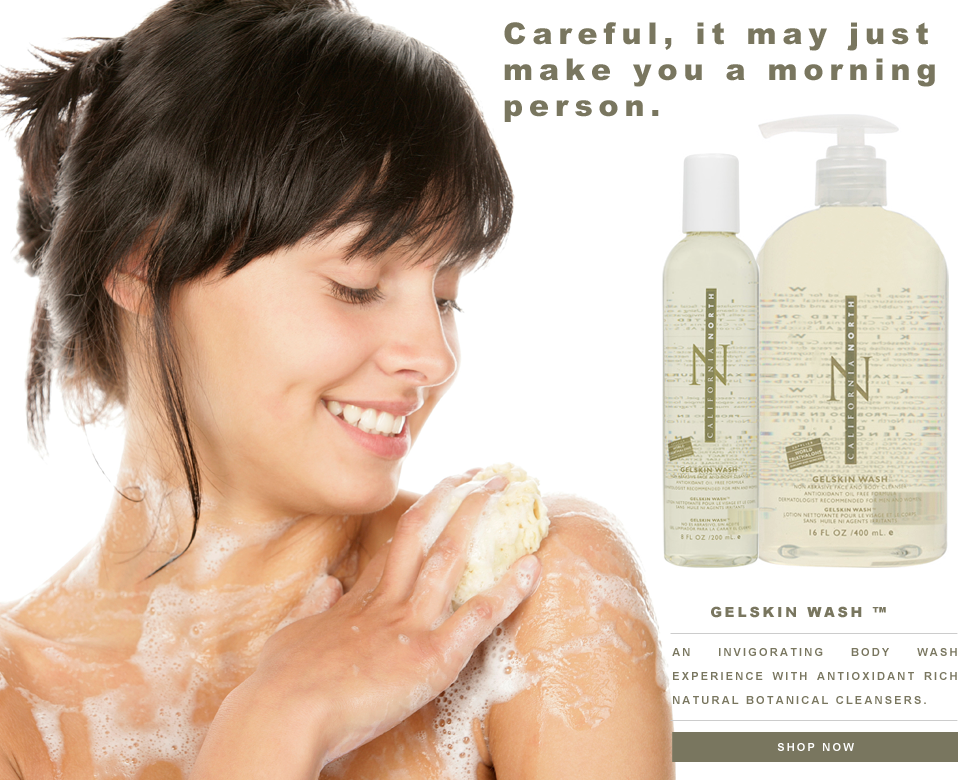 California North Gelskin Wash Skincare Advertisement