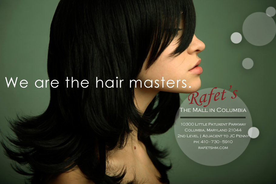 Rafets Hairmasters Columbia, Maryland. Print advertising agency