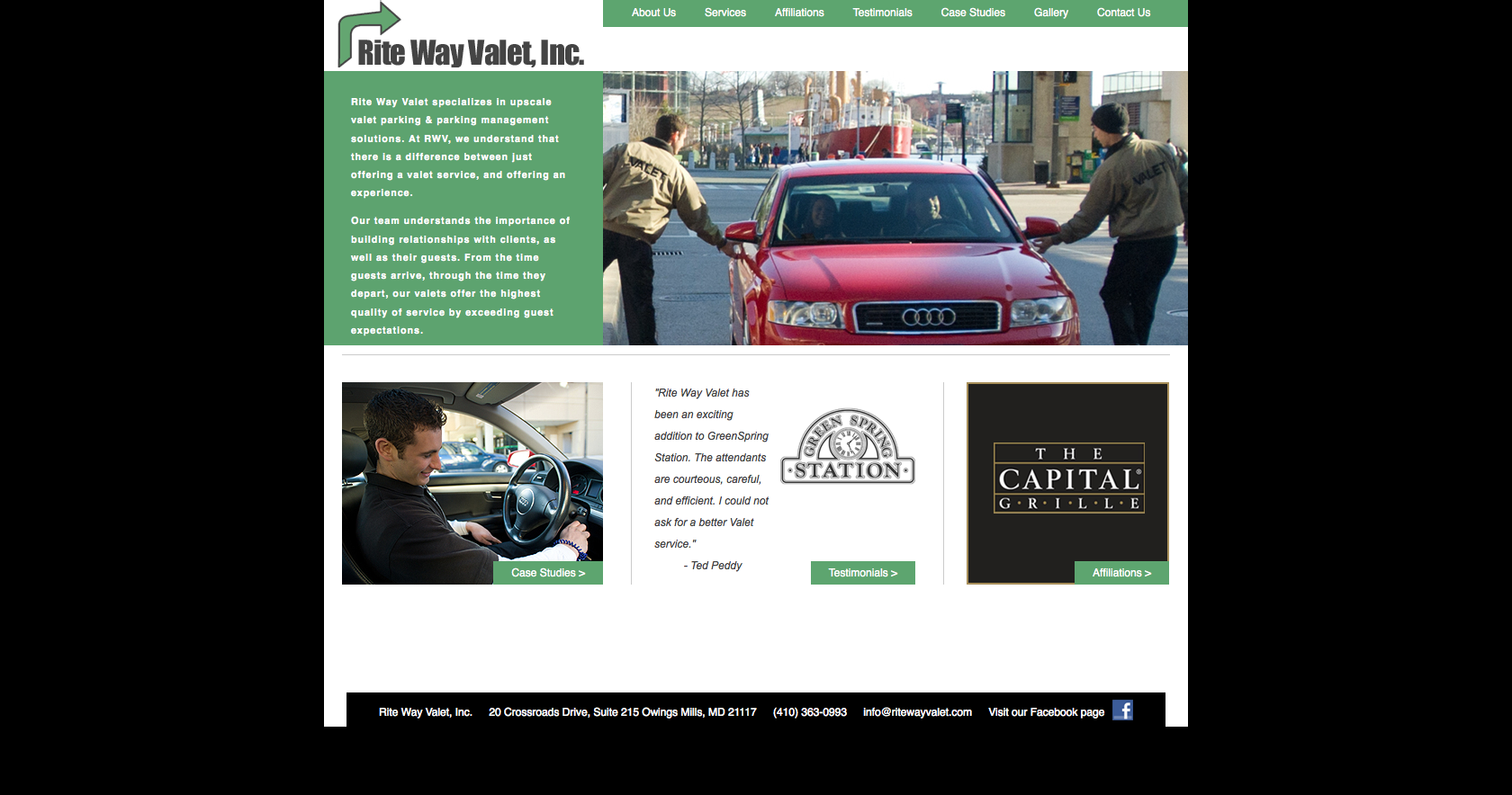 Baltimore, Maryland Valet Company Web Design